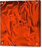 E Vincent Orange Acrylic Print