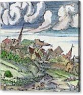 Earthquake, 1550 Acrylic Print