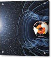 Earths Magnetic Field Acrylic Print