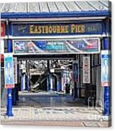 Eastbourne Pier Fire July 2014 Acrylic Print