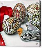 Easter Eggs Do With Birds Acrylic Print