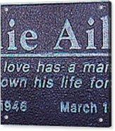 Eddie Aikau Plaque Acrylic Print