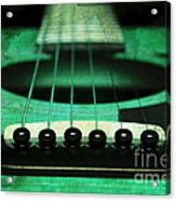 Edgy Abstract Eclectic Guitar 15 Acrylic Print by Andee Design