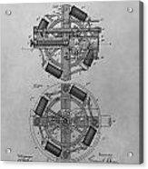 Edison's Phonograph Patent Acrylic Print