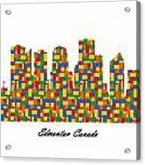 Edmonton Canada Building Blocks Skyline Acrylic Print