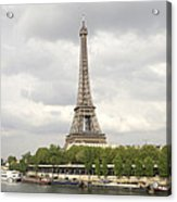 Eiffel Tower And The Seine Acrylic Print