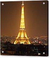 Eiffel Tower - Paris France - 01131 Acrylic Print by DC Photographer