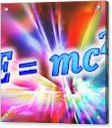 Einstein's Mass-energy Equation Acrylic Print