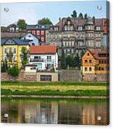 Elbe River Town Acrylic Print