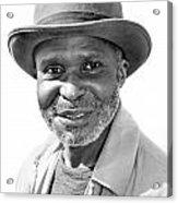 Elderly Black Man Acrylic Print
