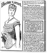 Electric Corset, 1882 Acrylic Print