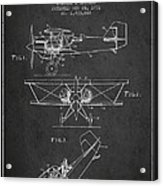 Emergency Flotation Gear Patent Drawing From 1931 Acrylic Print by Aged Pixel