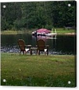 Empty Chairs Acrylic Print