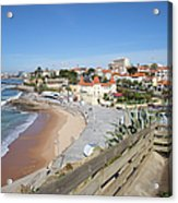 Estoril Beach In Portugal Acrylic Print