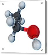 Ethanol Molecular Model Acrylic Print