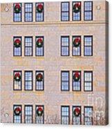 Evergreen Christmas Wreaths Acrylic Print