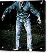 Evil Dead Horror Zombie Walking Undead In Cemetery Acrylic Print