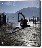 Excavator Clean A Harbor Acrylic Print
