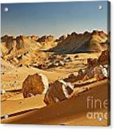 Expressive Landscape With Mountains In Egyptian Desert  Acrylic Print