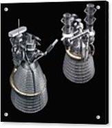 F-1 And J-2 Rocket Engines Acrylic Print