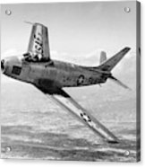 F-86 Sabre, First Swept-wing Fighter Acrylic Print