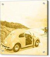Faded Film Surfing Memories Acrylic Print