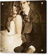 Faded Vintage Wedding Photograph Acrylic Print