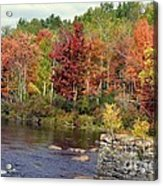 Fall At The River Acrylic Print