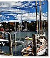 Fall In The Harbor Acrylic Print