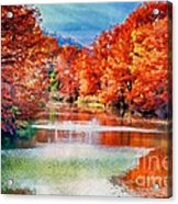 Fall On The Guadalupe Wc Acrylic Print