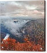 Fall Snow Coopers Rock Acrylic Print