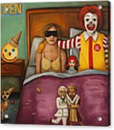 Fast Food Nightmare Acrylic Print by Leah Saulnier The Painting Maniac