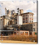 Feed Mill Acrylic Print by Charles Beeler