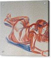 Female Figure Painting Acrylic Print
