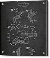 Fender Guitar Patent Drawing From 1960 Acrylic Print