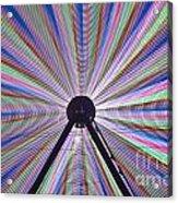 Ferris Wheel And Fireworks Acrylic Print