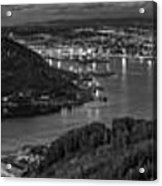 Ferrol's Estuary Panorama From La Bailadora Galicia Spain Acrylic Print