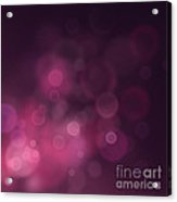 Festive Bokeh Background Acrylic Print