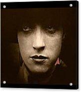 Film Homage Billy Bitzer Miriam Cooper Intolerance 1916 Screen Capture Color Added 2012 Acrylic Print