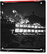 Film Homage Chris Marker La Jetee 1962 Winter Fire Collage Aberdeen South Dakota 1965-2013 Acrylic Print
