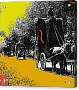 Film Homage Haskell Wexler Days Of Heaven Hay Wagons 1878-2008 Acrylic Print