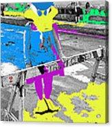Film Homage Howard The Duck '86 Cowboy Duck Collage La Fiesta De Los Vaqueros Rodeo Tucson '85-'09 Acrylic Print
