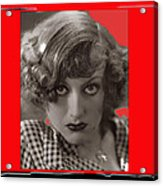 Film Homage Joan Crawford Louis Milestone Rain 1932 Collage Color Added 2010 Acrylic Print