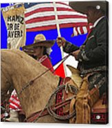 Film Homage Ride Vaquero 1953 1 Hispanic Riders Rodeo Parade Tucson Az 2002-2008 Acrylic Print