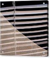 Film Noir Double Indemnity 2 1944 Broken Glass Window Venetian Blinds Casa Grande Arizona 2004 Acrylic Print