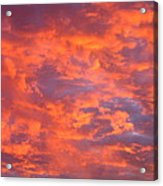 Film Noir Homage Leave Her To Heaven Number 1 Fiery Clouds Casa Grande Arizona 2005 Acrylic Print