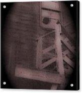 Film Noir Humphrey Bogart Lauren Bacall Dark Passage 1947 Elk's Club Aberdeen Sd 1966-2013 Acrylic Print