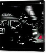 Film Noir Tom Neal Ann Savage Edgar Ulmer Detour 1945 Screen Capture Color Added 2012 Acrylic Print