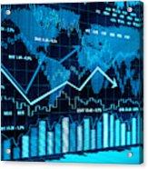 Financial charts Acrylic Print