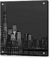Financial District In New York City At Twilight Acrylic Print